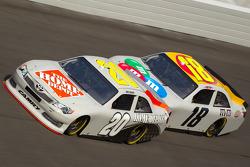 Joey Logano, Joe Gibbs Racing Toyota and Kyle Busch, Joe Gibbs Racing Toyota