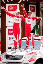 Third place in Car category Giniel de Villiers and Dirk Von Zitzewitz