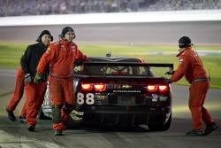 #88 Autohaus Motorsports Camaro GT.R: Paul Edwards, Matthew Marsh, Tom Milner, Jordan Taylor stopped on pitlane
