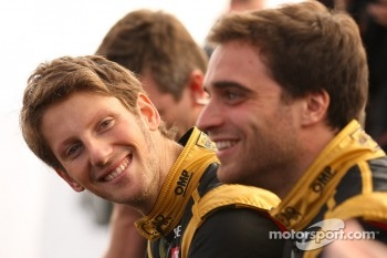 Romain Grosjean, Lotus Renault F1 Team and Jérôme d'Ambrosio,  Lotus Renault F1 Team