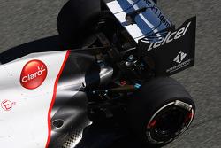 Kamui Kobayashi, Sauber F1 Team rear wing