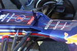 Mark Webber, Red Bull Racing air intake in the nose cone