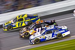 Carl Edwards, Roush Fenway Racing Ford, Denny Hamlin, Joe Gibbs Racing Toyota, Matt Kenseth, Roush Fenway Racing Ford