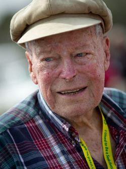 Living legends of auto racing street parade: oldest living NASCAR driver Mac McDonald