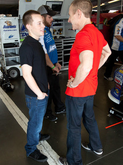 Mark Martin, Michael Waltrip Racing Toyota with son Matt Martin