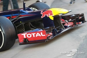 Mark Webber, Red Bull Racing front wing ad nose cone