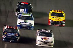 Landon Cassill, BK Racing Toyota and Bobby Labonte, JTG Daugherty Racing Toyota