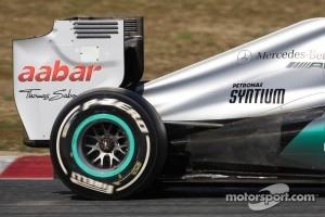 Mercedes GP rear wing