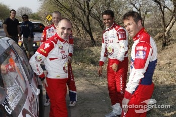 Sbastien Loeb, Citron Total World Rally Team Giovanni Bernacchini and Nasser Al-Attiyah, Qatar World Rally Team