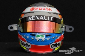Pastor Maldonado, Williams F1 Team helmet 