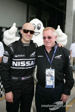 Marino Franchitti and Don Panoz, Sebring DeltaWing's first public showing, March 2012