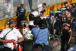 Third place qualifying for Romain Grosjean, Lotus F1 Team
