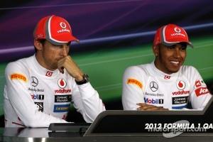 Press conference, Jenson Button, McLaren Mercedes, Lewis Hamilton, McLaren Mercedes