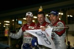 Overall winners Rinaldo Capello, Allan McNish and Tom Kristensen