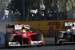 Felipe Massa, Scuderia Ferrari and Kamui Kobayashi, Sauber F1 Team