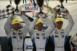 ALMS GTE-Pro podium: first place Joey Hand, Dirk Muller, Jonathan Summerton