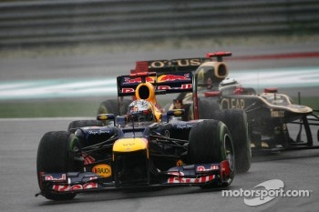 Sebastian Vettel, Red Bull Racing and Kimi Raikkonen, Lotus F1 Team
