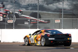 #89 Ferrari of Ontario 458CS: Ryan Ockey crashes