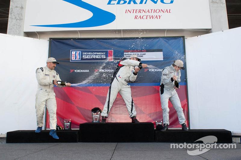 Race #2 Platinum Class Podium: Michael Mills, Fernando Pena, Sean Johnston