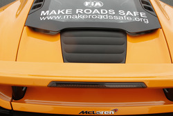 FIA Make Road Safe campaign on a McLaren