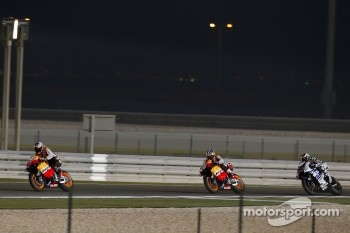 Casey Stoner, Repsol Honda Team, Dani Pedrosa, Repsol Honda Team, Jorge Lorenzo, Yamaha Factory Racing