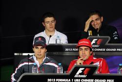 The FIA Press Conference, Sahara Force India F1; Bruno Senna, Williams; Sergio Perez, Sauber F1 Team; Fernando Alonso, Scuderia Ferrari