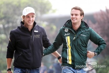 Dani Clos, HRT Formula One Team with Giedo van der Garde, Caterham Third Driver