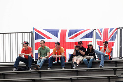 British fans in the grandstand