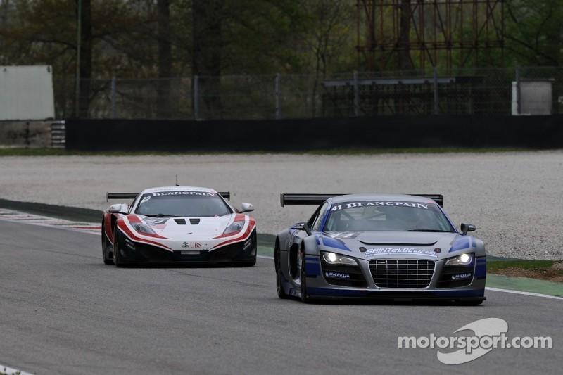 #41 Sainteloc Racing Audi R8 LMS:  Marc Sourd, Pierre Hirschi, Robert Hissom