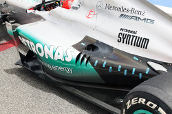 Temperature sensors on the exhaust of the Mercedes AMG F1 of Michael Schumacher, Mercedes AMG F1