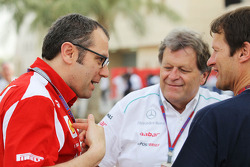 Stefano Domenicali, Scuderia Ferrari General Director with Norbert Haug, Mercedes Sporting Director