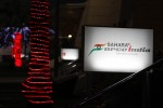 The paddock at night with Sahara Force India F1 Team logo