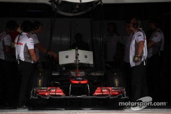 Lewis Hamilton, McLaren Mercedes in the pits