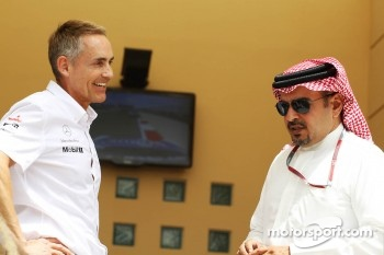 Martin Whitmarsh, McLaren Mercedes Chief Executive Officer with Crown Prince Shaikh Salman bin Isa Hamad Al Khalifa