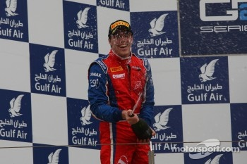 Podium: second place Luiz Razia