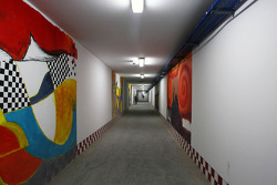 Paintings in the pedestrian tunnel under the circuit