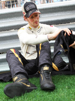 Romain Grosjean, Lotus F1 Team on the grid