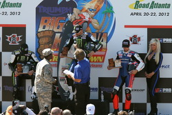 Podium: race winner Josh Hayes, second place Blake Young, third place Josh Herrin