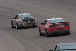 #08 Rebel Rock Racing Porsche 997: Jim Jonsin; #52 Rehagen Racing Ford Mustang GT: Dean Martin, Bob Michaelian