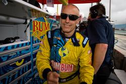 Race winner Nick Longhi celebrates