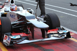 New Sauber front wing