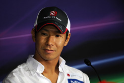 Kamui Kobayashi, Sauber F1 Team in the FIA Press Conference