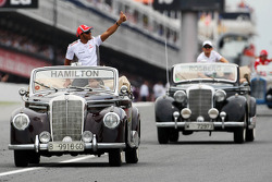 Lewis Hamilton, McLaren on the drivers parade