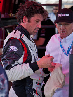 Patrick Dempsey after stint during Friday practice