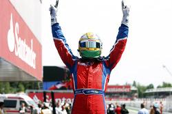 Race winner Luiz Razia