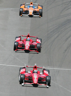 Dario Franchitti, Target Chip Ganassi Racing Honda, Scott Dixon, Target Chip Ganassi Racing Honda, Charlie Kimball, Novo Nordisk Chip Ganassi Racing Honda
