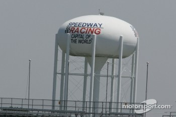 Famous Speedway Water Tower outside the south short chute