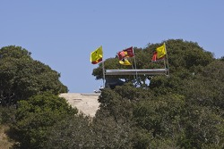 Fan Ferrari flags before Ferrari 458 Challenge Race 2