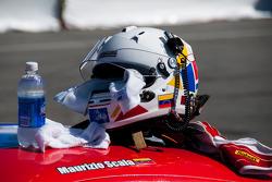 #59 Ferrari of Fort Lauderdale 458CS: Maurizio Scala Helmet Detail