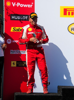 Podium celebration for second place Maurizio Scala